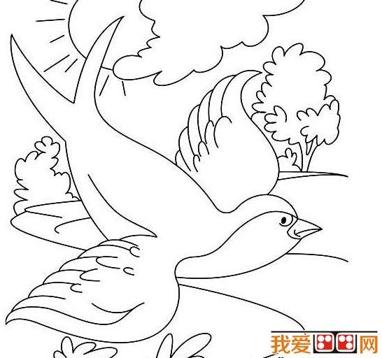 春天的景色儿童简笔画作品欣赏(2)