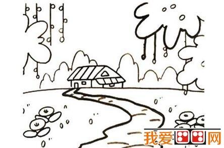 春天的景色儿童简笔画作品欣赏(6)图片