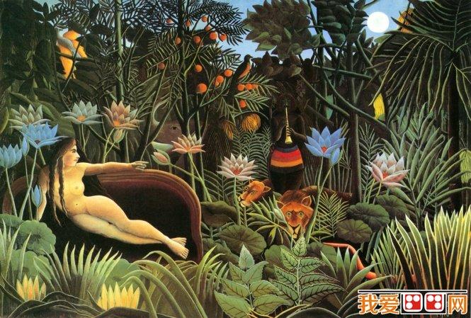 法国画家卢梭梦幻森林风景油画作品赏析(2)_世界名画