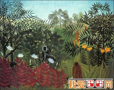 法国画家卢梭梦幻森林风景油画作品赏析(3)