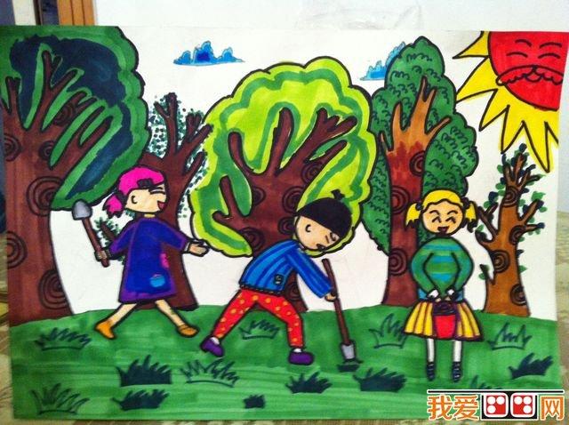植树节儿童画优秀作品欣赏