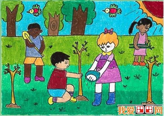 植树节儿童画优秀作品欣赏(4)