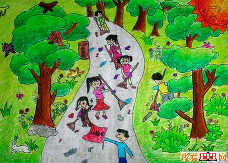 清明节儿童画作品欣赏(2)