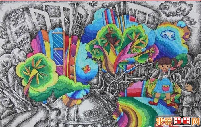 有关春节的图画_科幻儿童画-科幻儿童画大全图片,儿童绘画辅导班,太空科幻儿童 ...
