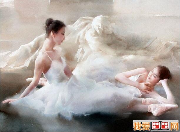 柳毅人物水彩画《芭蕾少女》作品欣赏(4)