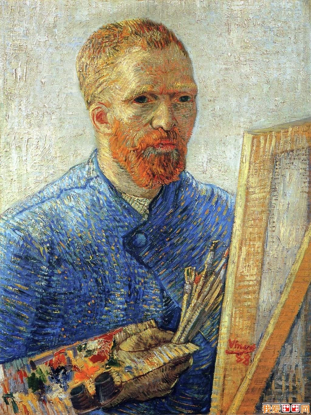 梵高自画像解读 梵高人物肖像油画作品欣赏