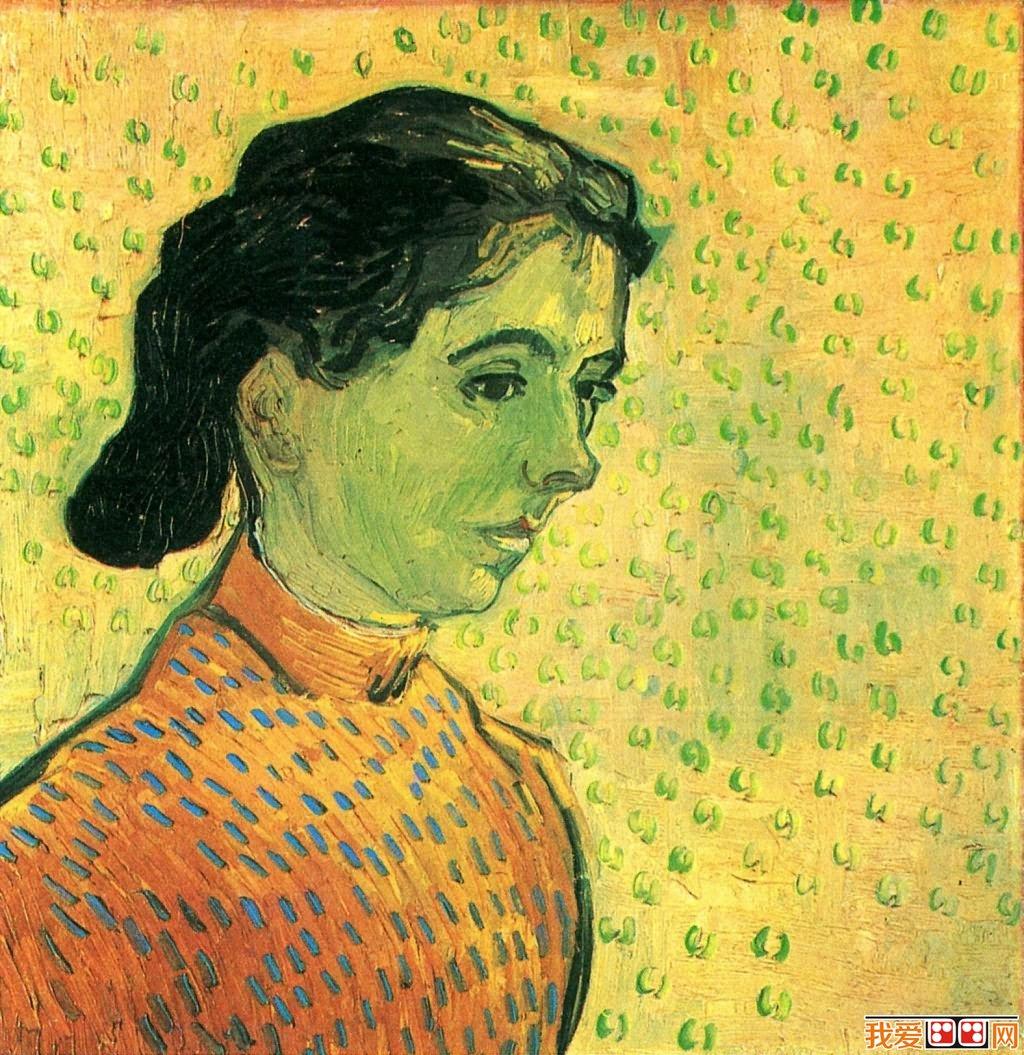 印象派画家梵高人物肖像油画作品欣赏