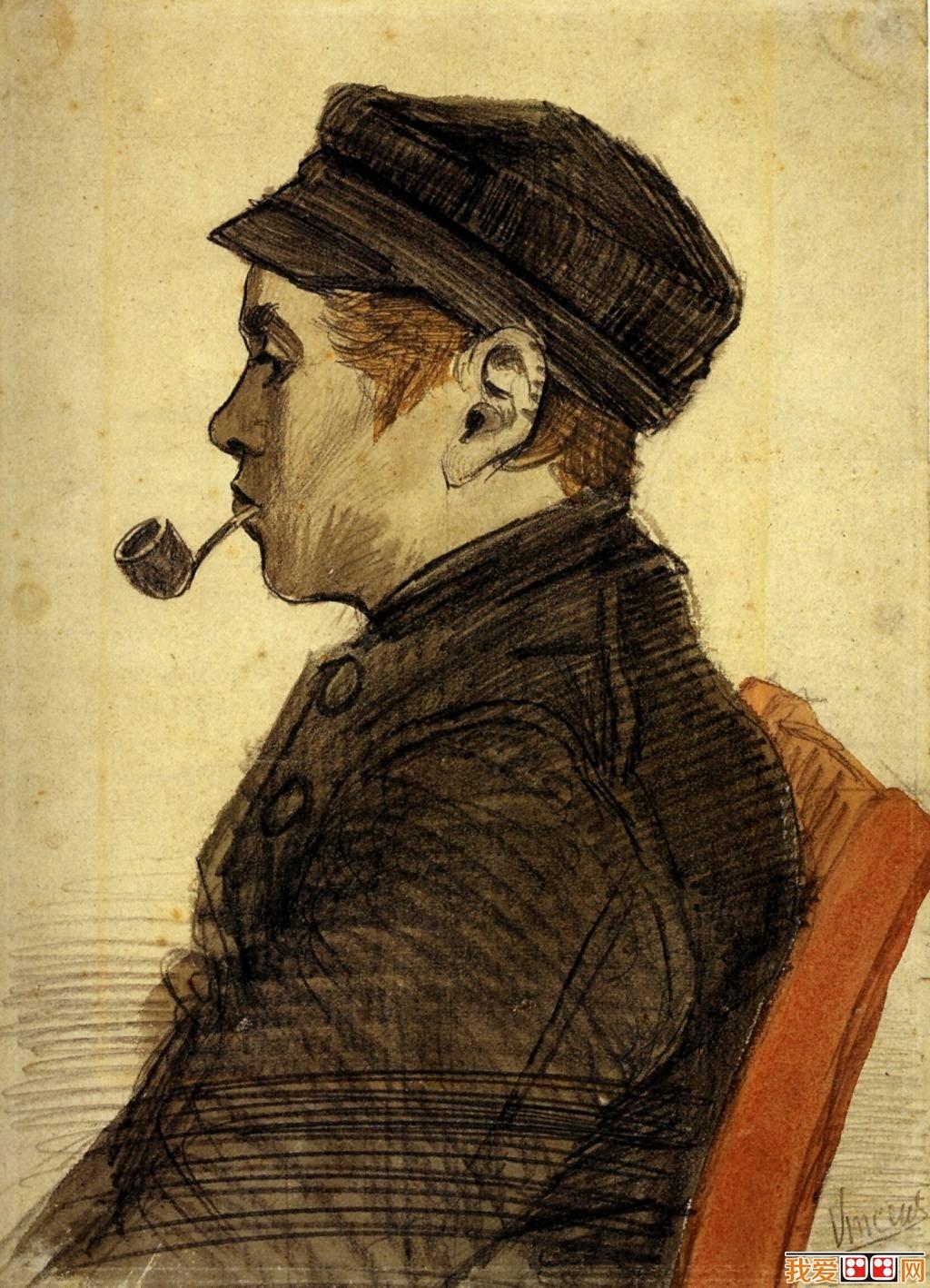 印象派画家梵高人物肖像油画作品欣赏 2