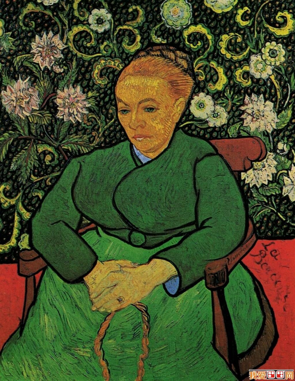 印象派画家梵高人物肖像油画作品欣赏 5