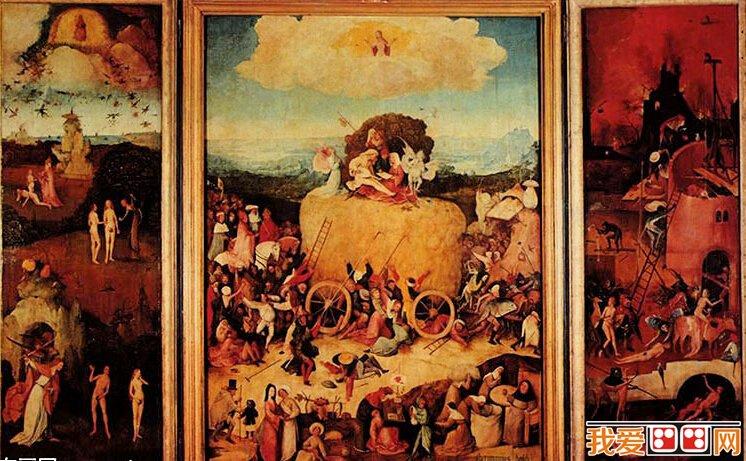 希罗尼穆斯·波希著名油画:干草车