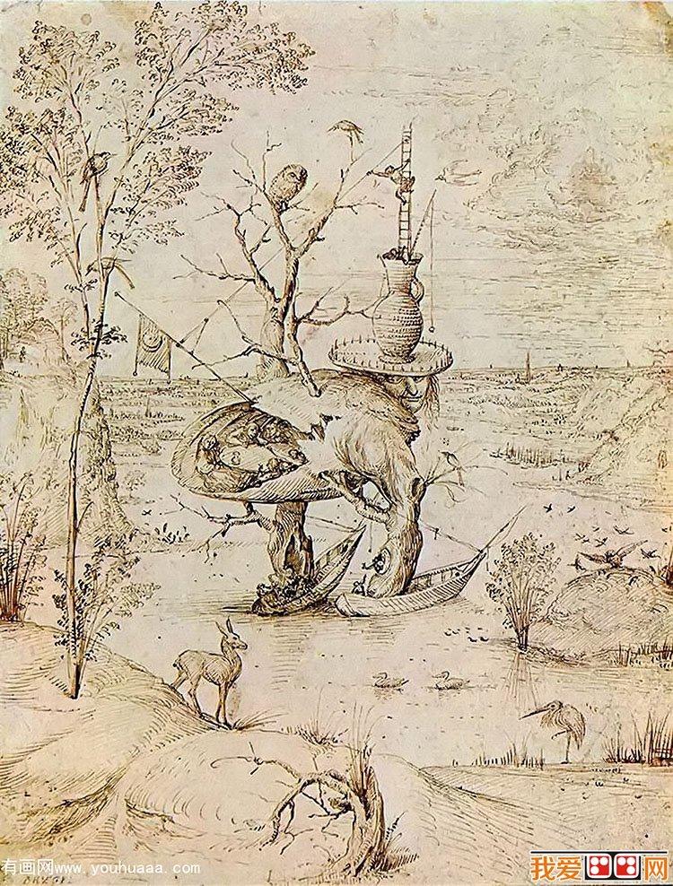 希罗尼穆斯·波希著名油画:人之树