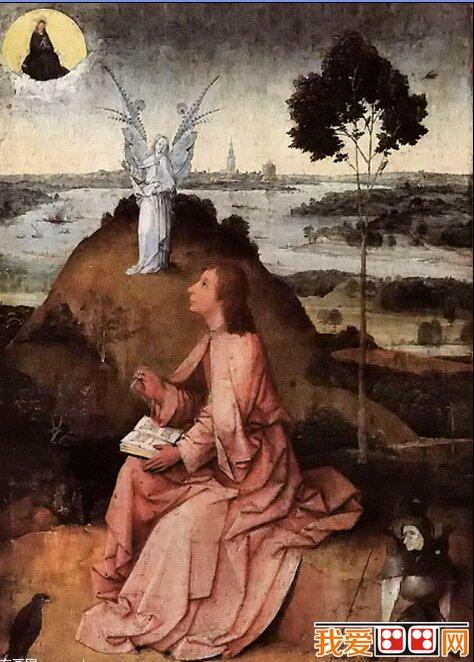 希罗尼穆斯·波希著名油画:帕特莫斯岛上的圣约翰