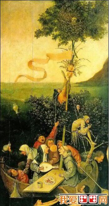 希罗尼穆斯·波希著名油画:愚人船