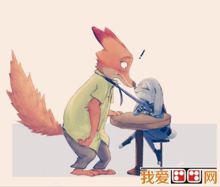 可爱的疯狂动物城卡通画欣赏