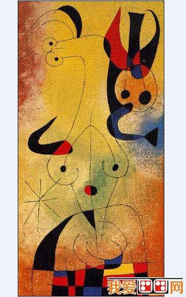 油画作品欣赏      胡安·米罗(1893 -1983)二十世纪 绘画大师图片