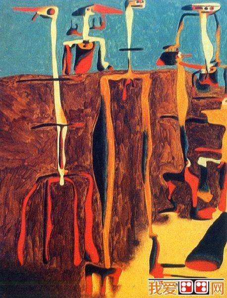 超现实主义画家胡安·米罗著名油画作品欣赏(6)