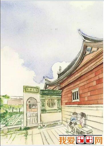 闽南老房子建筑手绘图片_世界名画_百科_我爱画画网