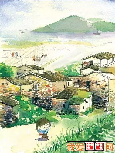石头厝建筑手绘