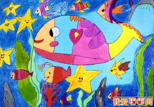 幼儿画画作品:小鱼