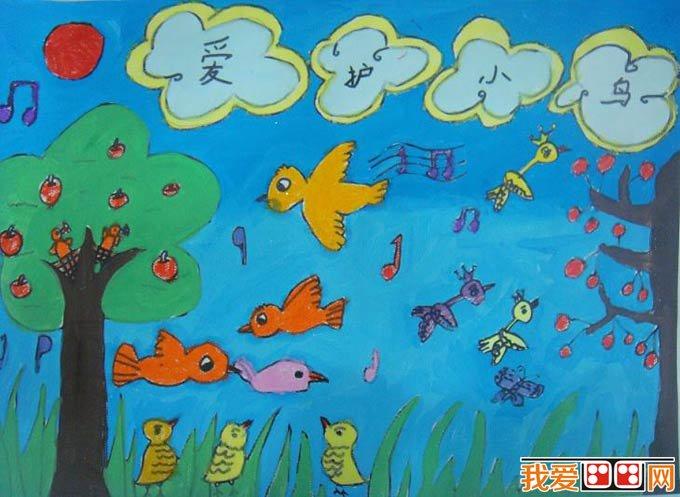 组织幼儿绘画环保标志,丰富环境保护知识.