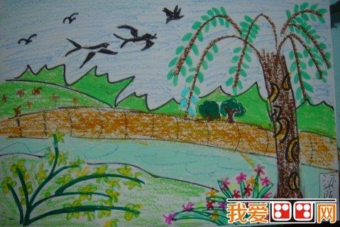 幼儿画画作品:美丽的春天