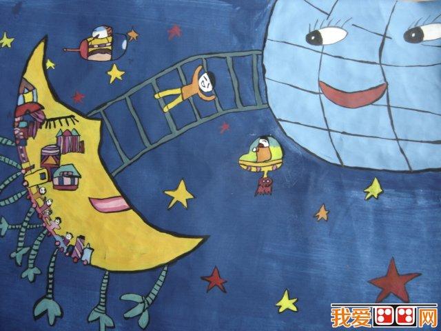 幼儿画画作品:让未来的世界更美好