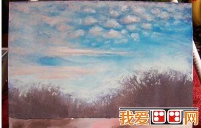 水粉画技法 > 冬季风景水粉画教程解析      冬日如音乐般曼妙的色调