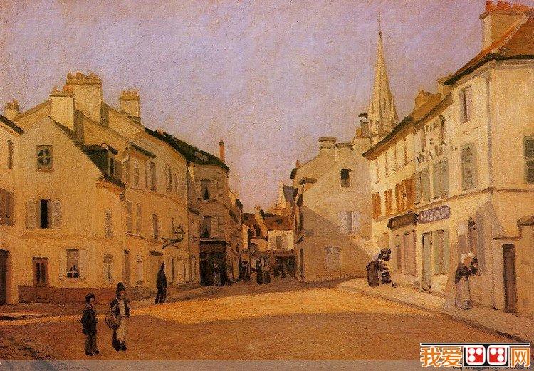法国画家艾尔弗雷德·西斯莱风景油画作品赏析(2)