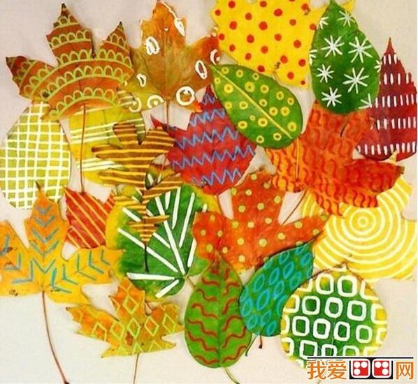 精美的树叶装饰画diy制作教程