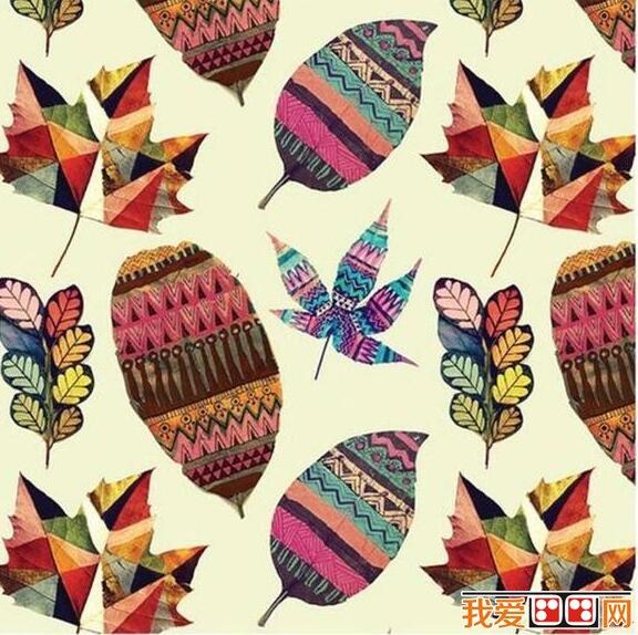 精美的树叶装饰画diy制作教程(6)图片
