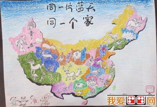 """湖北省""""美丽中国""""第二届少儿手绘地图大赛获奖作品(2)"""