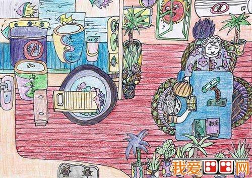 倡导节约用水的儿童画欣赏(4)