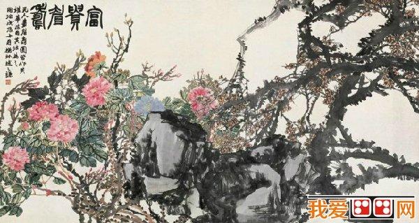 清代画家赵之谦水墨花卉画作品欣赏