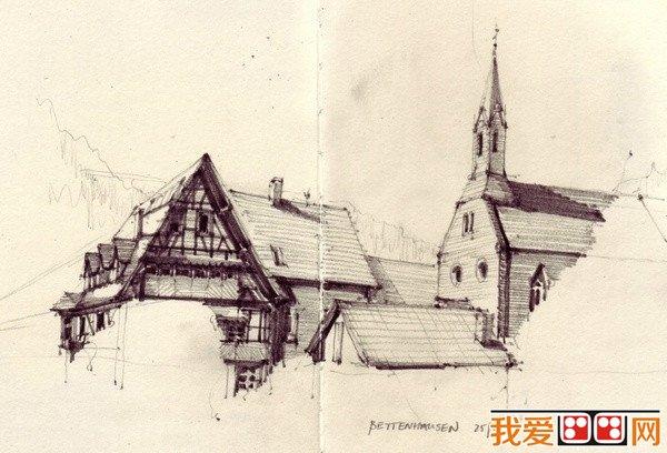 欧洲建筑手绘作品欣赏(4)_手绘涂鸦_画画图片_我爱