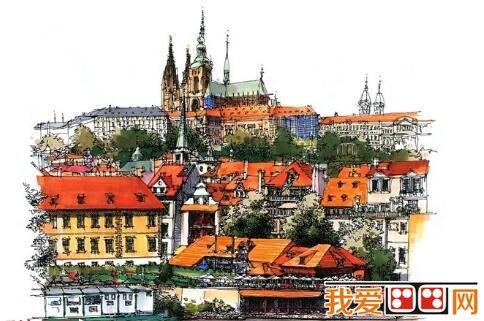 欧洲建筑手绘作品欣赏(6)
