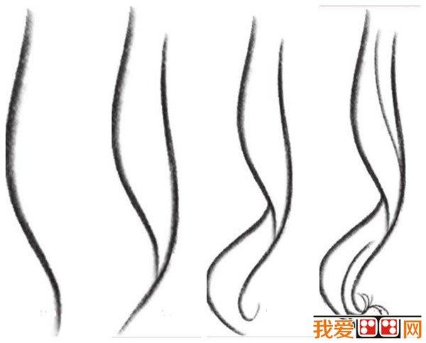 女生发型:漫画漫画画法发型详解(2)卷最教程微自然图片