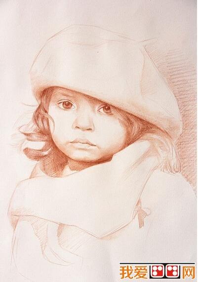 彩铅画教程:戴帽子小女孩彩铅画步骤详解