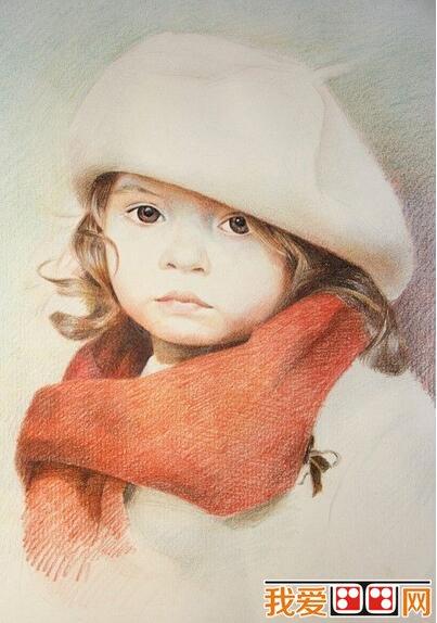 彩铅画教程:戴帽子小女孩彩铅画步骤详解(4)图片