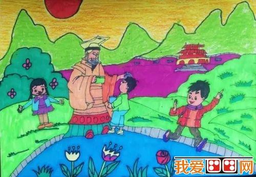 """全国首届""""画出你心中的黄帝陵""""儿童绘画作品大赛(2)图片"""
