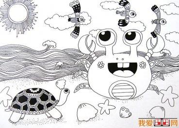 恐龙简笔画,儿童简笔线描画恐龙图片大图10张 5