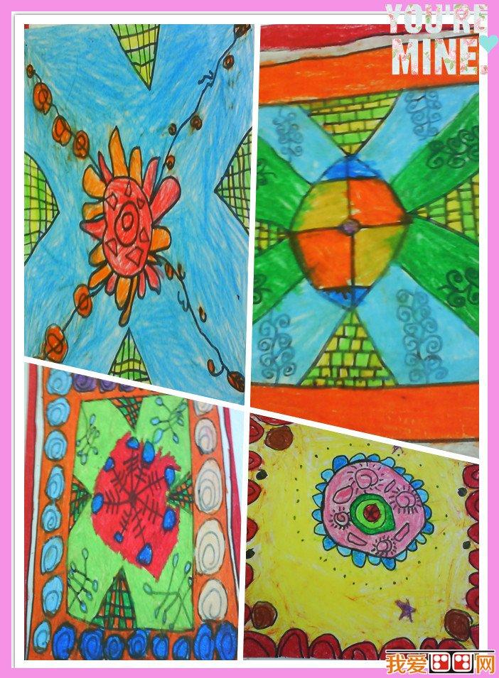 幼儿画画之花布设计