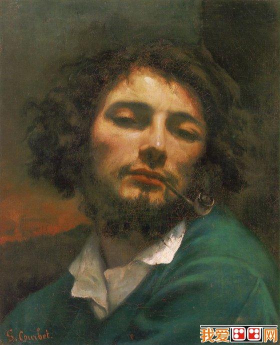 处理基础;以现实主义手法表现出来的安逸姿态,突出着浪漫主义的幻想神情。在这幅自画像上,库尔贝的自我欣赏得到了完美的抒情体现。后来,他画出了更加重要的作品,在绘画处理方面更加丰富的作品,可是再没有一幅比这幅更加优美了。正由于库尔贝的自我欣赏,他的许多自画像成了杰作。