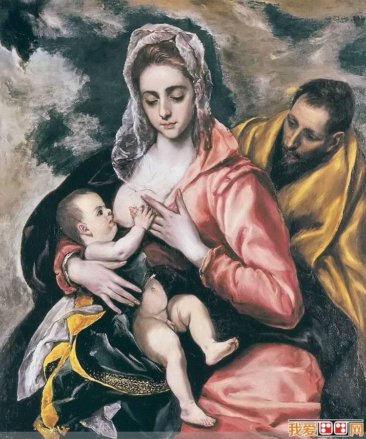 百科 世界名画 其他艺术作品 > 西班牙画家埃尔·格列柯人物油画作品