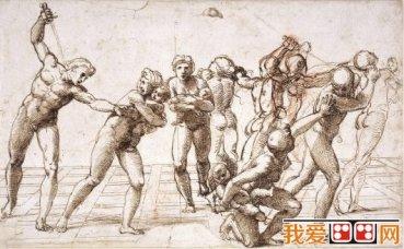 拉斐尔人物人体素描作品赏析