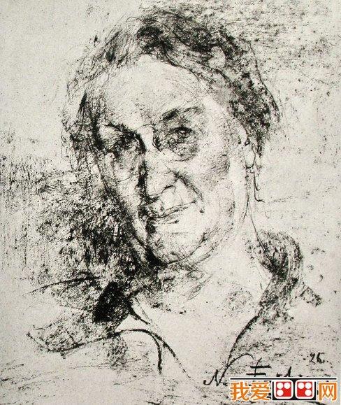 尼古拉·费申人物头像素描作品欣赏(5)