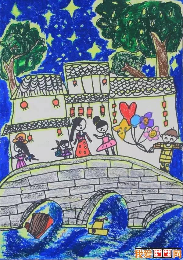 """作品 > """"追梦千年·情系运河——杭州少儿主题绘画大赛(3)       京杭图片"""
