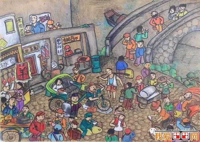 """""""追梦千年·情系运河——杭州少儿主题绘画大赛(5)图片"""
