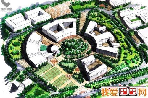 长春大学毕业生手绘母校11幅大型建筑