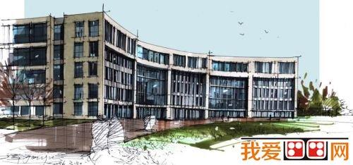 > 长春大学毕业生手绘母校11幅大型建筑      小伙子老家在湖南常德.