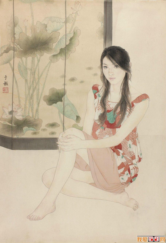 女画家于敏工笔人物画作品欣赏